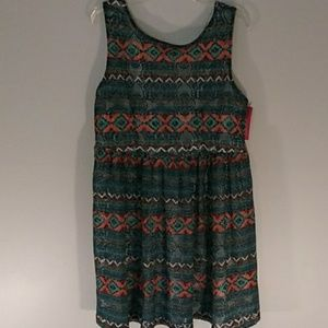 NWT cute sundress with zip up back size XXL